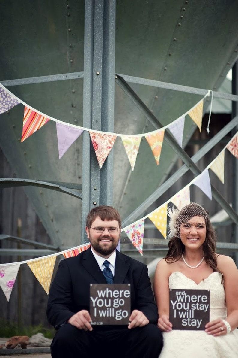 Custom Bunting Flags. Wedding Bridal Shower Wedding image 0