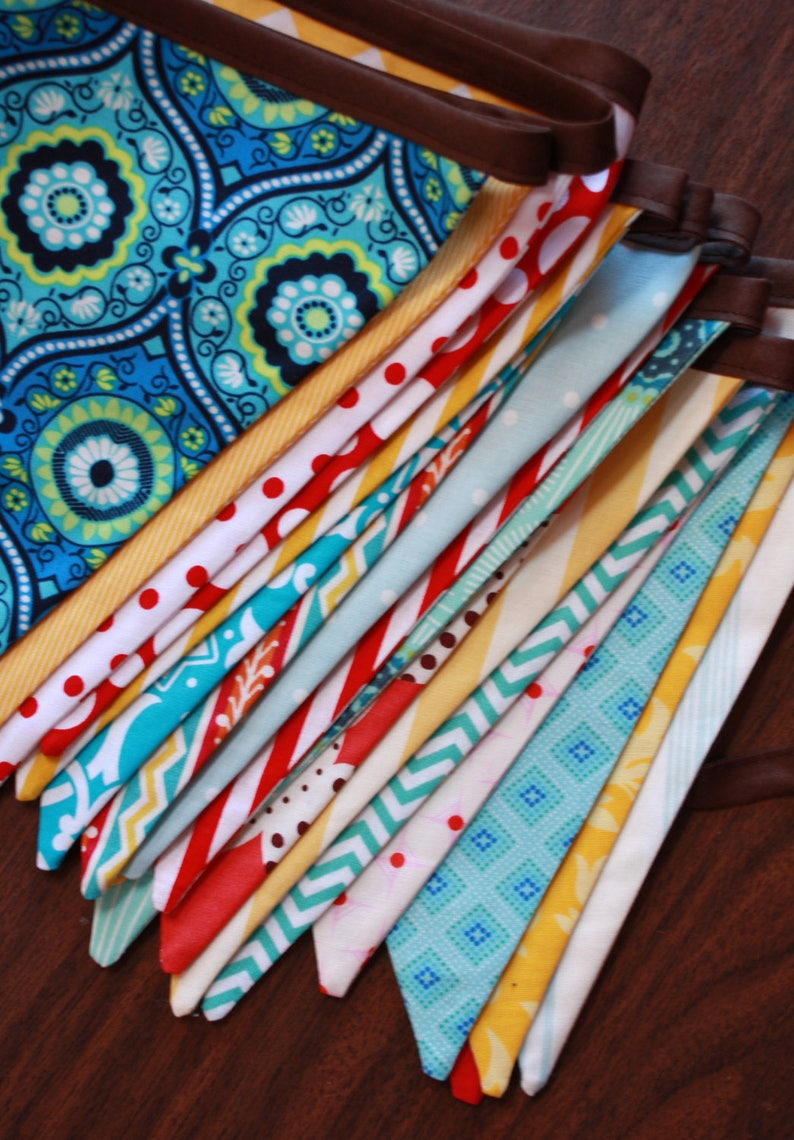 Custom Banner 13 Flags Fabric Bunting Pennant Banner image 0