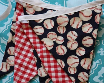 Baseball Themed Bunting. Ready To Ship. Photo Prop, Nursery Decoration, Party Banner Sports Baby Shower Decor. For Boys