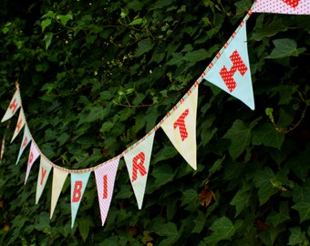 Carnival Theme Happy Birthday Flags, as Shown in first 3 images. Bunting Garland Party Decoration.  Double Sided, Ready to Ship Circus Theme