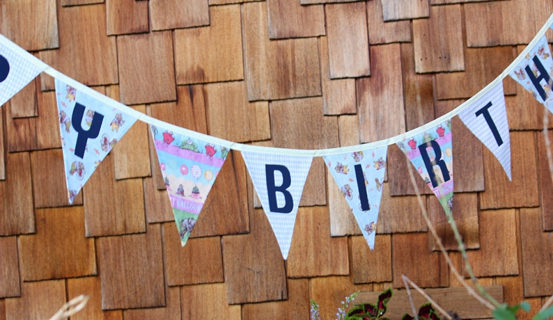Ready To Ship As Shown Happy Birthday Banner Bunting Party image 0