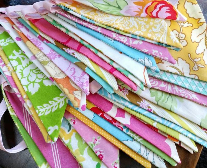 Long Fabric Bunting Flag Banner Pennants Wedding Decoration. image 0