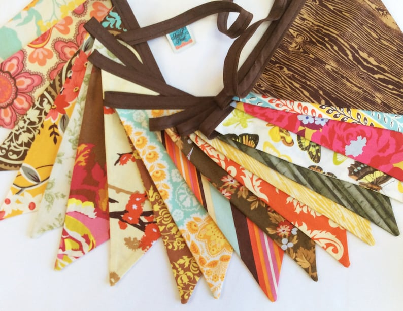 70' Total Length Harvest Bunting Fabric Flag Banner Fall image 0