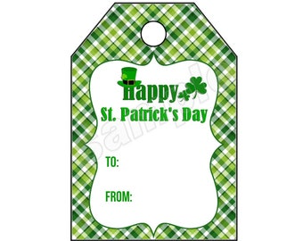DIY PRINTABLE Tags  |  Happy St. Patricks Day  |  Printable St Patty's Day Tags | Gift Tags