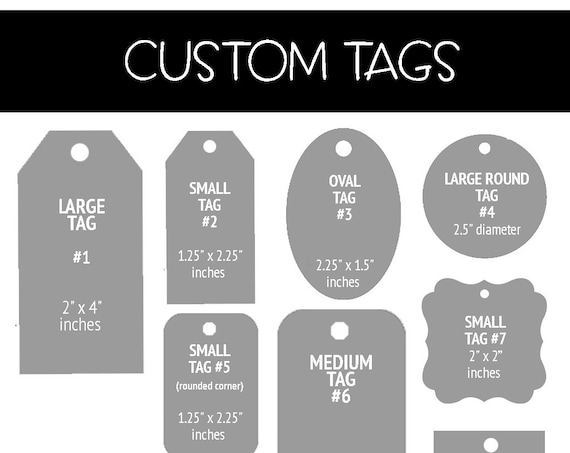 Custom Tags, Product Tags, Personalized Tags, Gift tags, Party Favor Tags, Favor Tags, Wedding Tags, Baby Shower, Birthday Tags - Set of 50