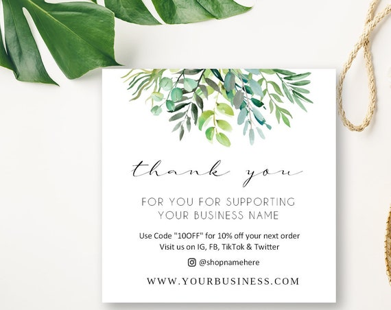 Custom Business Cards | Thank You Cards | Discount Cards | Printed Business Cards | Promo | 3235