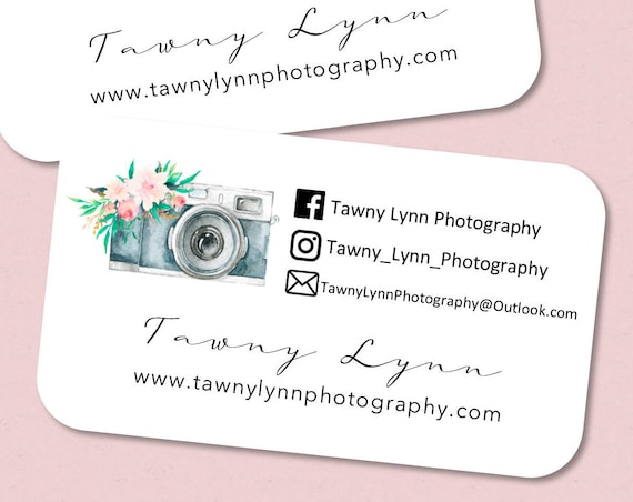 Photography Business Cards | Photographer Cards | Printed Business Cards | Rounded Edges 4265