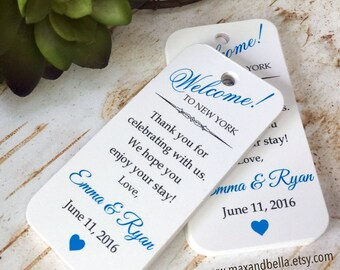Custom Welcome Tags, Wedding Tags, Personalized Tags, Custom Wedding Tags, Gift Tags, Personalized, Custom Tags - Set of 20