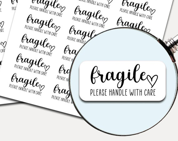 Fragile Shipping Labels | Business Shipping Labels | Handle With Care Stickers 2947