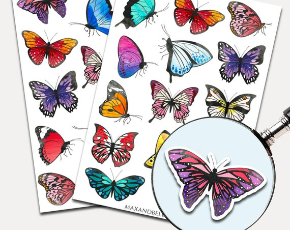 Butterfly Stickers, Journal Stickers, Bible Journal, Planner Stickers, Butterfly Stickers, Watercolor Stickers (2992)