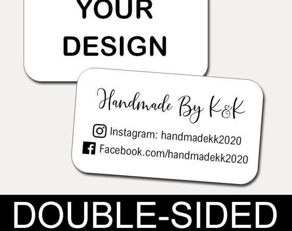 Mini Business Cards | Custom Cards |  Rounded Corners | Printed Business Cards | Kraft | Set of 21 | 6730