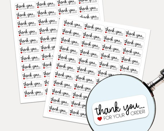 Thank You Stickers, Envelope Seals, Etsy, Packaging stickers, Thank you stickers, Thank you labels, Product Labels, Shipping Supplies 2293