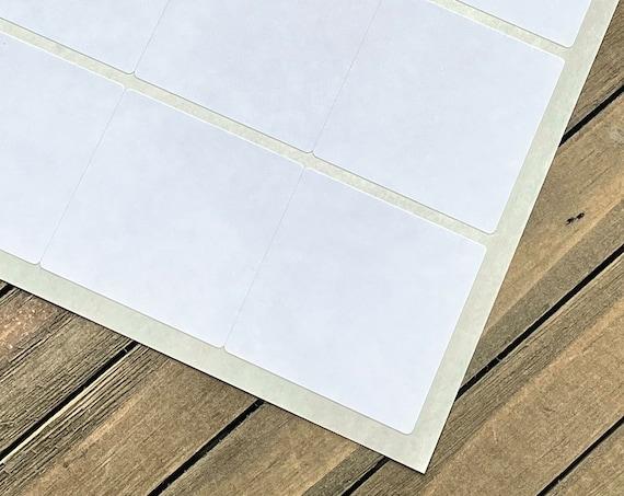 "Standard White Matte - 2"" x 2"" Square Labels DIY Stickers (80 Stickers)"