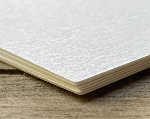 """24 Blank 3""""x3"""" Square Cards Textured (Off White) Art Supplies  140lb  Painting Artist Tiles Drawing Craft Supplies"""