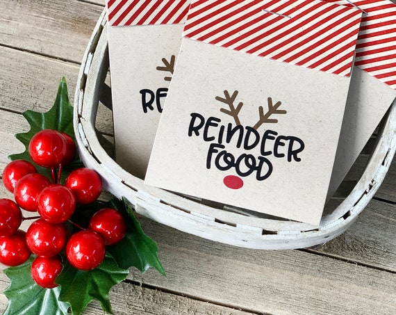Magic Reindeer Food, Reindeer Food, Personalized Favor, Reindeer, Christmas, Christmas Eve Gift, Rudolph Food, Stocking Stuffer