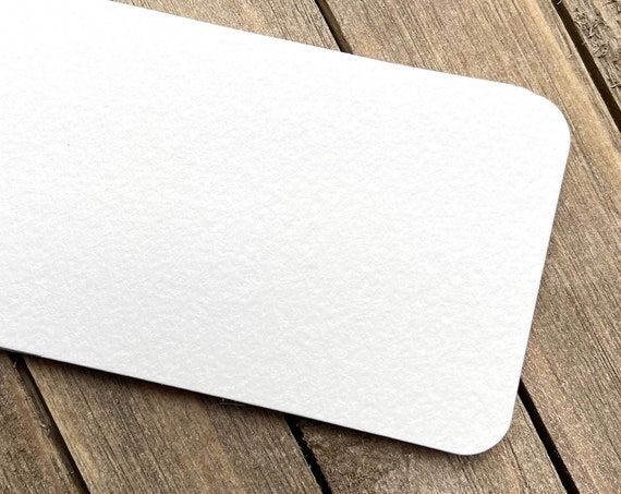 """20 Blank 3.5"""" x 2"""" Business Cards Rounded Corners Textured Art Supplies 140lb  Painting Artist Tiles Drawing Craft Supplies Watercolor"""