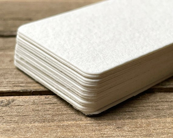 """20 Blank Mini Cards 2.25"""" x 1.25"""" Rounded Corners Textured Art Supplies 140lb  Painting Artist Drawing Craft Supplies Watercolor"""