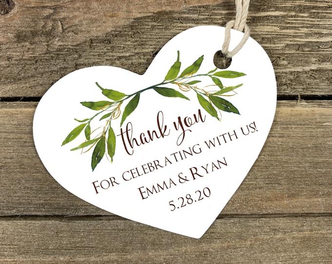 Personalized Wedding Tags Kraft Heart Tags Bridal Shower Tags Wedding Favor Tags Kraft Brown Heart Tags Die Cut Heart 9876