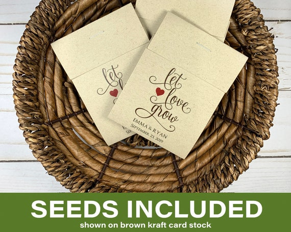DIY Custom Seed Packets, Seed Packet Favors, Wedding Seed Packet Favors, Baby Shower, Baby Shower, Let Love Grow, Wildflower Seeds 0292