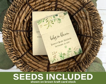 DIY Seed Packets, Seed Packet Favors, Wedding Seed Packet Favors,  Baby Shower, Baby Shower Favor, Baby in Bloom, Wildflower Seeds 3885