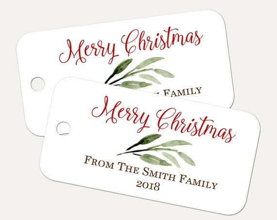 MERRY CHRISTMAS Tags, Custom Tags, Product Tags, Personalized Tags, Gift Tags, Personalized Tags - Set of 20 (4491)