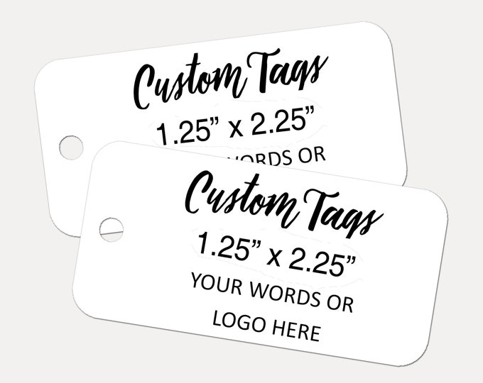 50 Custom Tags, Custom Tags, Product Tags, Personalized Tags, Your Text or Logo