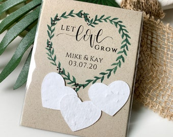 DIY Plantable Wedding Favors, Plantable Seed Paper Hearts, Rustic, Seed Favors, Wedding Seeds 2338
