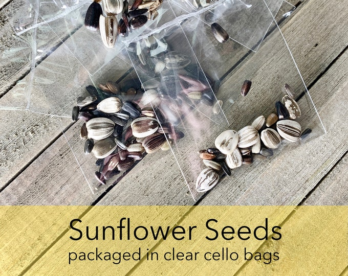 Sunflower Seeds Mix, helianthus annus, Yellow Sunflowers, Individually Packaged