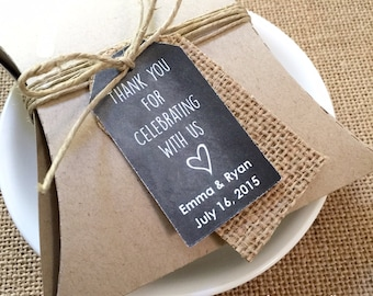 Personalized Tags, Chalkboard Tags, Supplies, Gift Tags, Hang Tags, Bridal Favor, Wedding, Party Favor, Gift Tags - Set of 25