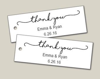 Personalized Tags, Custom Tags, Thank You Tags, Personalized Tags, Wedding Tags, Product Tags, Gift Tags, Personalized Tags - Set of 25