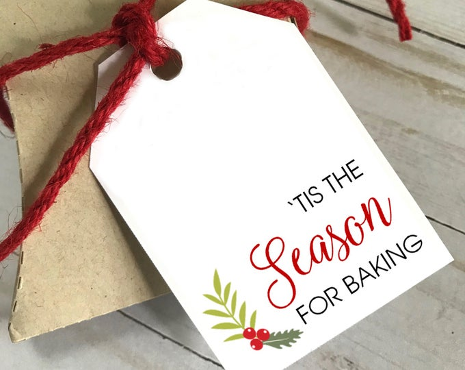 DIY PRINTABLE Tags  |  Tis The Season For Baking  |  Printable Gift Tags | Wedding Gift Tags | Shower Gift Tags