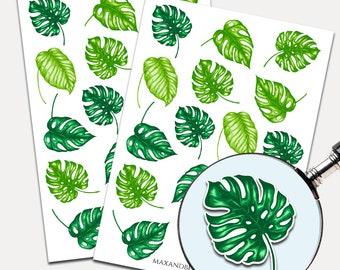 3 Leaf Nature Waterproof Sticker