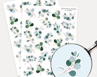 Eucalyptus Stickers, Envelope Seals, Planner Stickers, Leaves Watercolor, Nature Greenery, Scrapbook, Botanicals, Eucalyptus leaves
