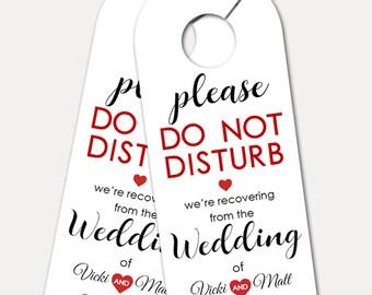 Personalized Door Hanger for Wedding Guests, Do Not Disturb Door Hanger, kraft, Welcome Gift, Wedding Favor, wedding gift (3395)