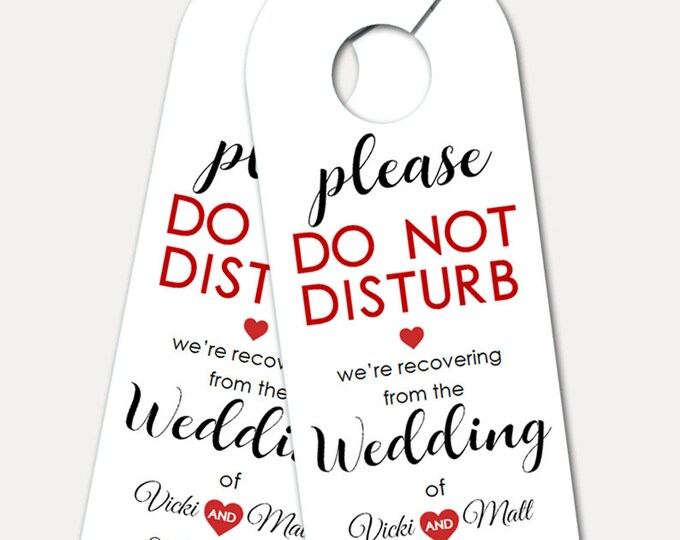 Personalized Door Hanger for Wedding Guests, Do Not Disturb Door Hanger, kraft, Welcome Gift, Wedding Favor, wedding gift (3395)
