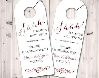 Personalized Door Hanger for Wedding Guests, Do Not Disturb Door Hanger, Hotel Welcome Gift, Wedding Favor, Wedding Door Tag
