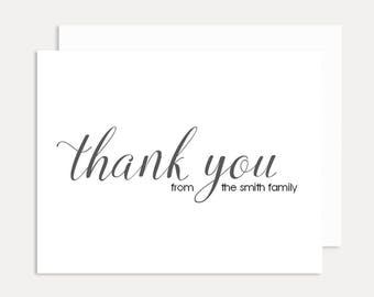 Thank You Note Cards, Personalized Stationery Set, Personalized Folded Note Cards, Personalized Thank You Cards, A2 Card