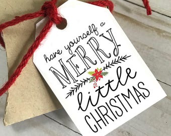 DIY PRINTABLE Tags  |  Have Yourself a Merry Little Christmas  |  Printable Christmas Gift Tags | Holiday Gift Tags | Gift Tags