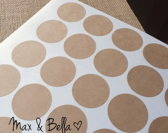 """Round Kraft Stickers, Blank Stickers, Labels, DIY Stickers - 1.5"""" inches (120 Stickers)"""