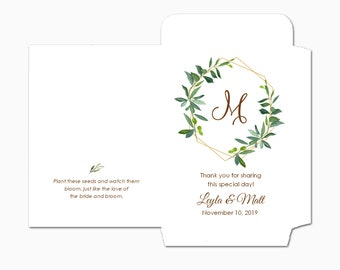 Custom Seed Packets, Let Love Grow Seed Packets, Flower Seed Packets, Kraft, Bridal Shower, Wedding Seed Packets, Love Grows Wild 2208