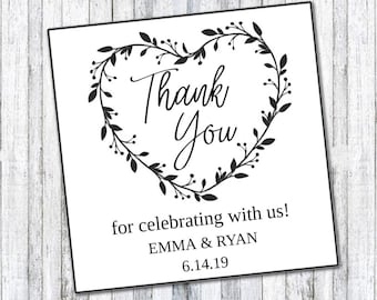 DIY EDITABLE Thank You Tags  |  Thank You Tags (3010) |  Printable Gift Tags | Wedding Gift Tags | Printable Wedding Tag  | Instant Download