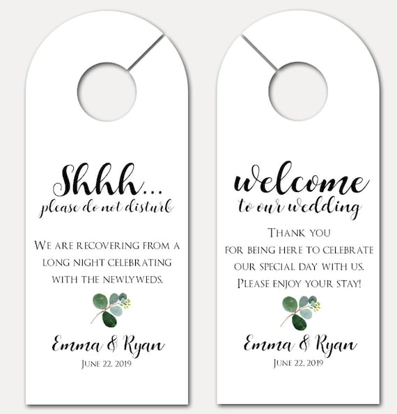 Wedding Door Hanger - Door Hanger for wedding - Bachelorette Party - Do Not Disturb Door Hanger - Wedding Guest Gift (9285)