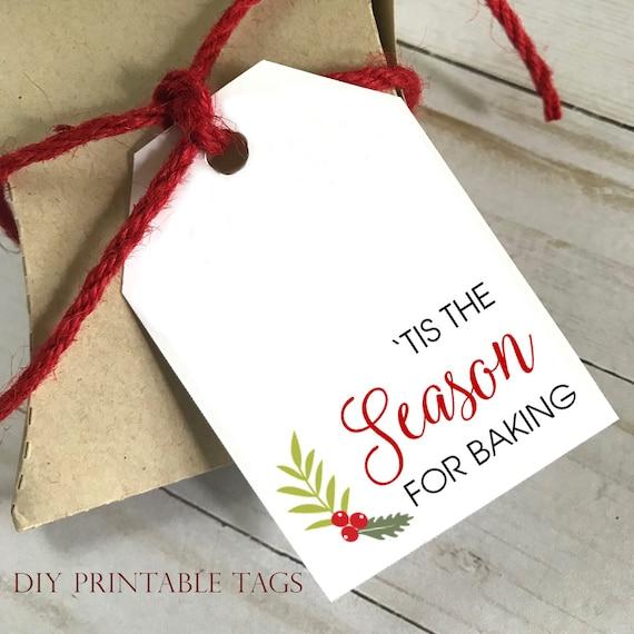 DIY PRINTABLE Tags  |  Tis The Season For Baking  |  Printable Gift Tags | Wedding Gift Tags | Shower Gift Tags