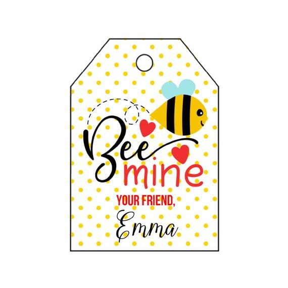 b35a188356b4 DIY PRINTABLE Tags Bee Valentine s Day Tag Bee Mine   Etsy