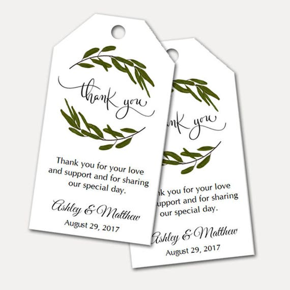 Personalized Thank You Tags, Wedding Tags, Supplies, Gift Tags, Bridal Favor, Wedding, Party Favor, Gift Tags - Set of 24