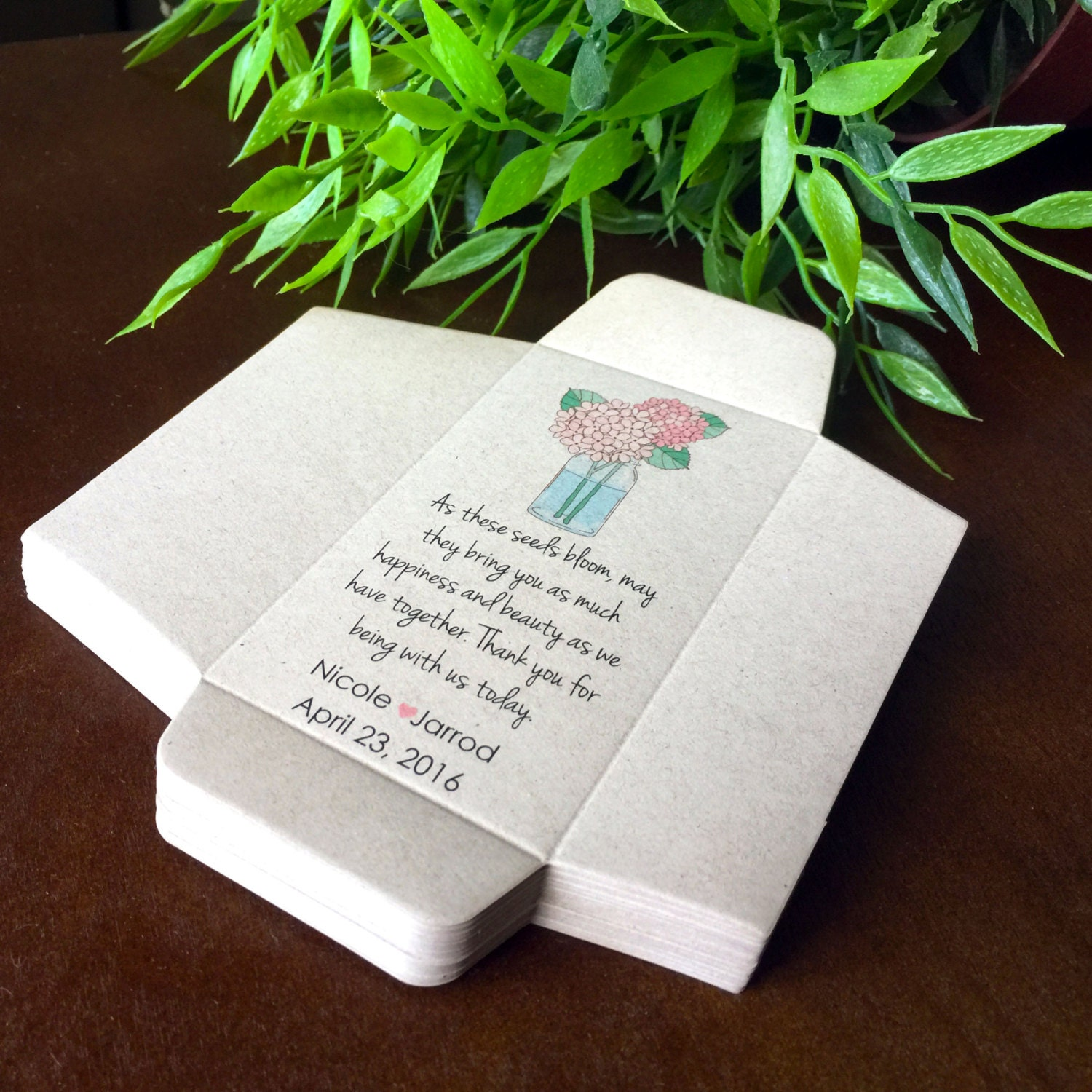 Colorful Personalized Seed Packets For Wedding Favors Model ...