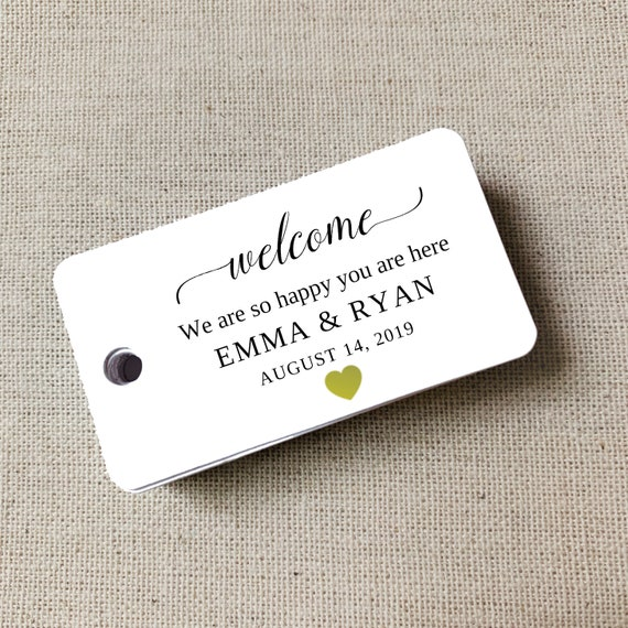 Personalized Welcome Tags, Custom Wedding Tags, Gift Tags, Personalized, Favor Tags, Welcome Gift Tags, Custom Tags, Set of 40 (9388)