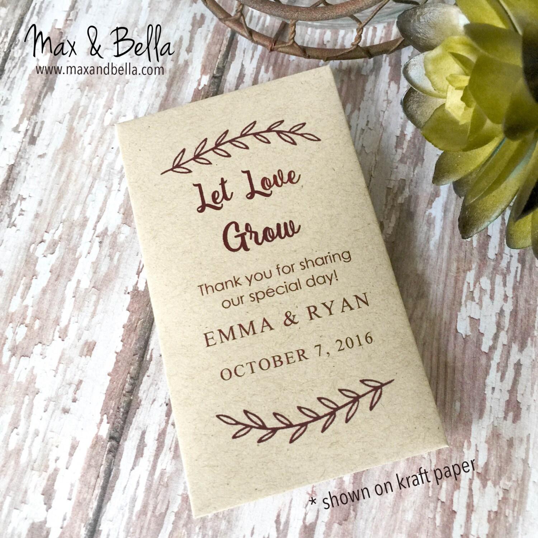DIY Custom Seed Packets, Custom, Kraft, Personalized Envelopes ...