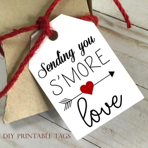 DIY PRINTABLE Tags  |  Sending You Smore Love  |  Printable Gift Tags | Wedding Gift Tags | Gift Tags