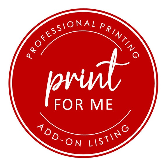 Print For Me Tags  | Add On Printing Service